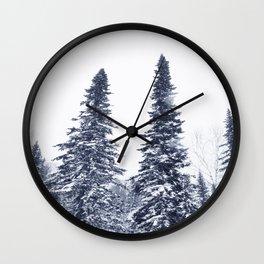 Fir-trees Wall Clock