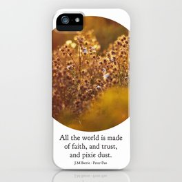 pixie dust - peter pan iPhone Case