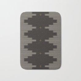 Southwestern Minimalist Black & White Bath Mat