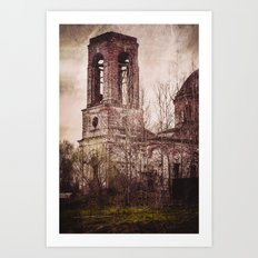 Church in ruins Art Print
