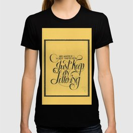 """THE YELLOW COLLECTION — """"JUST KEEP ON LETTERING"""" T-shirt"""