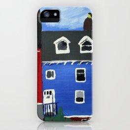 Newfoundland Houses Canada acrylics on canvas iPhone Case