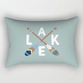 LAKE LIFE Painted Paddle Oars Rectangular Pillow