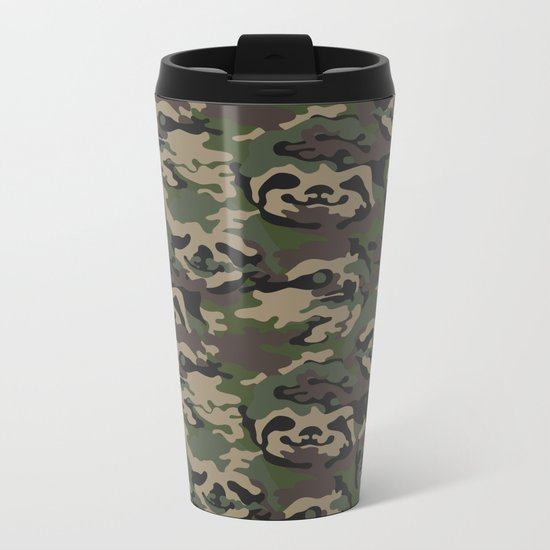 Sloth Camouflage Metal Travel Mug