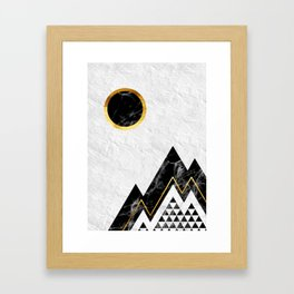Black Mountains Framed Art Print