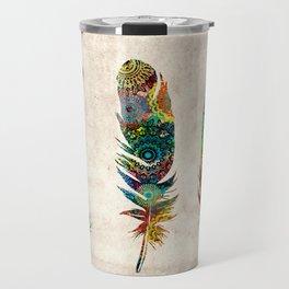 mandala vintage feathers Travel Mug