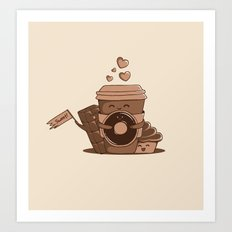 Caffeinated Love Art Print