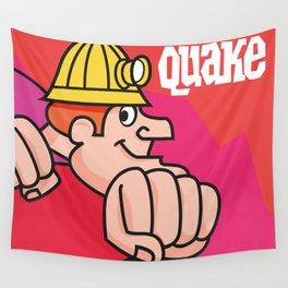 Retro Quake Cereal Box Wall Tapestry