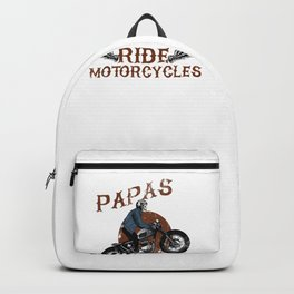 Mens Real Papas Ride Motorcycles design Funny Gift for Grandpas Backpack