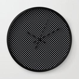 Black and Sharkskin Polka Dots Wall Clock