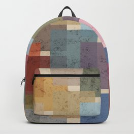 Vintage Colorful Squares Backpack