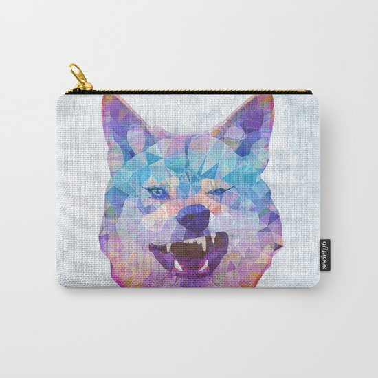 abstract rainbow wolf Carry-All Pouch