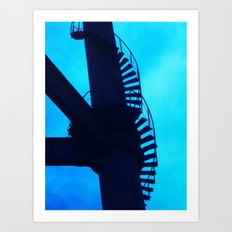 Climb On Blue Art Print
