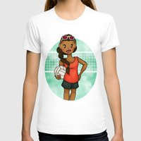 volleyball T-shirts featuring Volleyball Girl by Lunar Fox