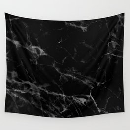 Black Marble Wall Tapestry