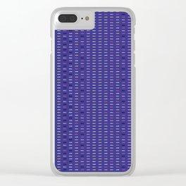 Geometric retro chevron shape seamless border pattern. Clear iPhone Case