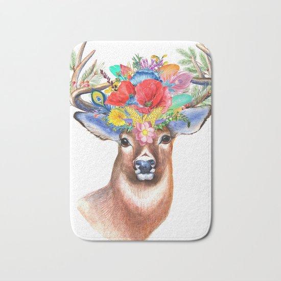 Hipster Deer Bath Mat