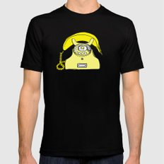 Banana Phone Black Mens Fitted Tee MEDIUM