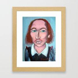 William shakespeare por Diego Manuel Framed Art Print