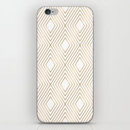 Elegant Geometric Gold Pattern Illustration iPhone Skin
