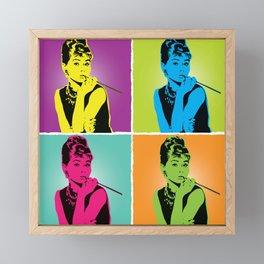 Miss Audrey Framed Mini Art Print