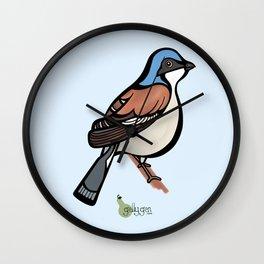 Red Backed Shrike Wall Clock
