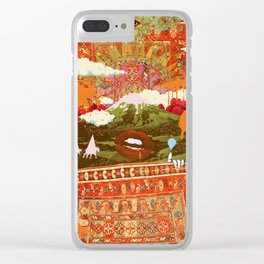 MORNING PSYCHEDELIA Clear iPhone Case