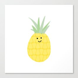 Happy pineapple Canvas Print