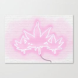 Pink Neon Mary Jane Canvas Print
