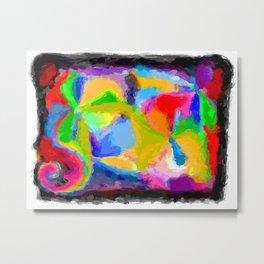 Pinwheel Painting Metal Print