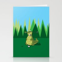 golf Stationery Cards featuring Golf  by Tony Vazquez