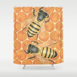 Honeybees Shower Curtain