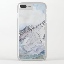 Spring  on Mount Sopris Clear iPhone Case