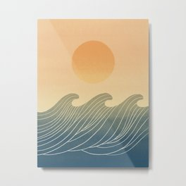 Great wave 5 Abstraction ocean sunset Metal Print