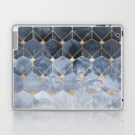 Blue Hexagons And Diamonds Laptop & iPad Skin