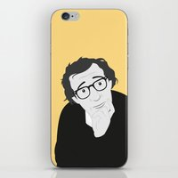woody allen iPhone & iPod Skins featuring Woody Allen by Simone G