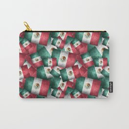 Grunge-Style Mexican Flag Carry-All Pouch