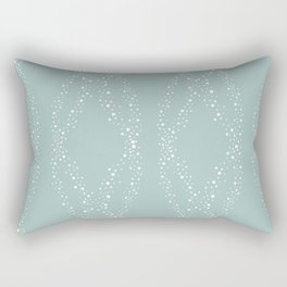 Whimsical Dots Pattern Rectangular Pillow