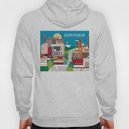 Birmingham, Alabama - Skyline Illustration by Loose Petals Hoody
