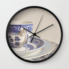 China cup and plates. Wall Clock
