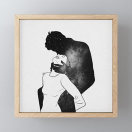 Deep heartbeat. Framed Mini Art Print