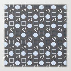 Geo Sprinkles Light Pastel Blue (Black Sesame) Canvas Print