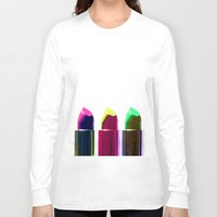 lipstick Long Sleeve T-shirts featuring Lipstick  by aldarwish