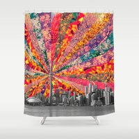toronto Shower Curtains featuring Blooming Toronto by Bianca Green