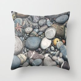 Beach 3 Throw Pillow