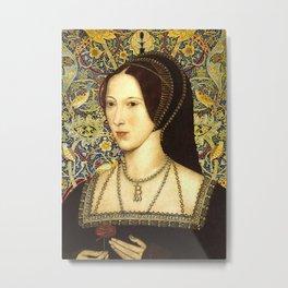 Queen Anne Boleyn Metal Print