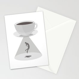 Beam Me Up Coffee Stationery Cards