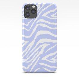 ZEBRA PURPLE AND WHITE ANIMAL PRINT iPhone Case