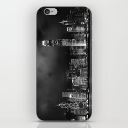 Hong Kong Skyline [Black & White] iPhone Skin