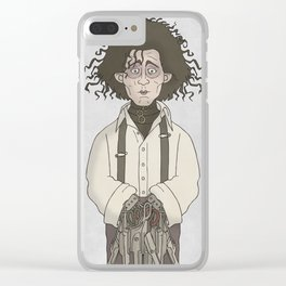 Edward Scissorhands Clear iPhone Case